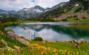 Pirin Mountain Lake in Spring